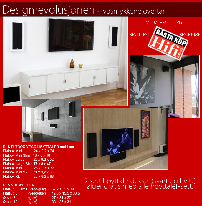DLS - On-wall speakers / Flatbox